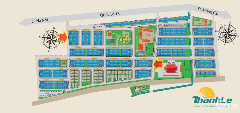 Chính chủ cần bán nhanh 2 ô đất vị trí hoa hậu - Dự án Km8 - Quang Hanh