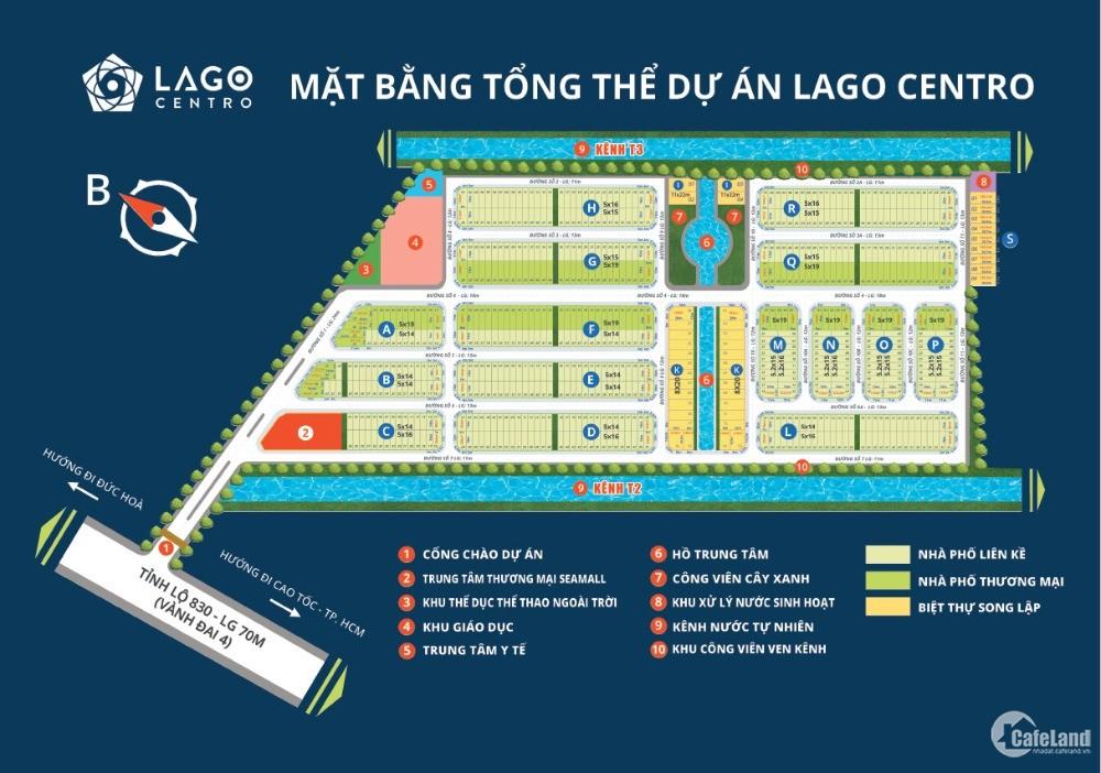 LAGO CENTRO - chỉ với 330 tr sở hữu đất full thổ cư gần KCN, KDC hiện hữu