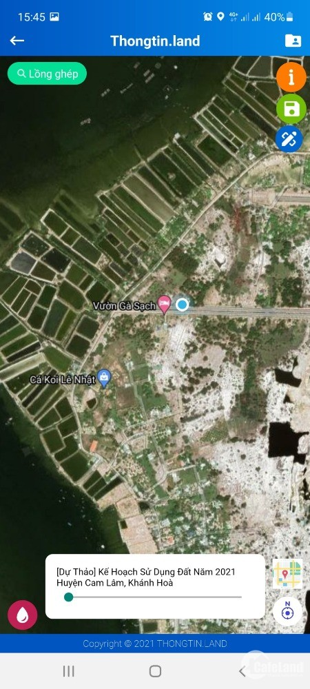 Đất xã Cam Hải Đông huyện Cam Lâm giá đầu tư chỉ 4.6 triệu/m2 .