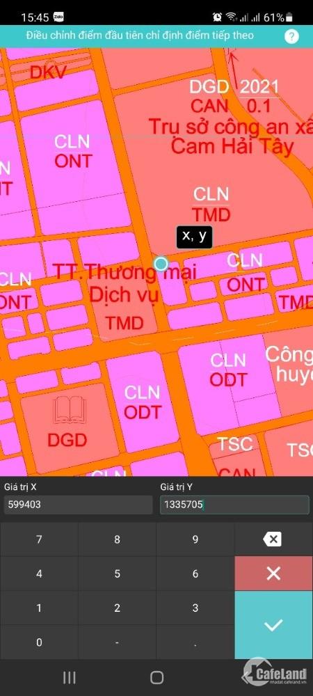 Bán đất thổ cư góc Lê Duẩn và Ngô Quyền, Xã Cam Hải Tây, Cam Lâm.