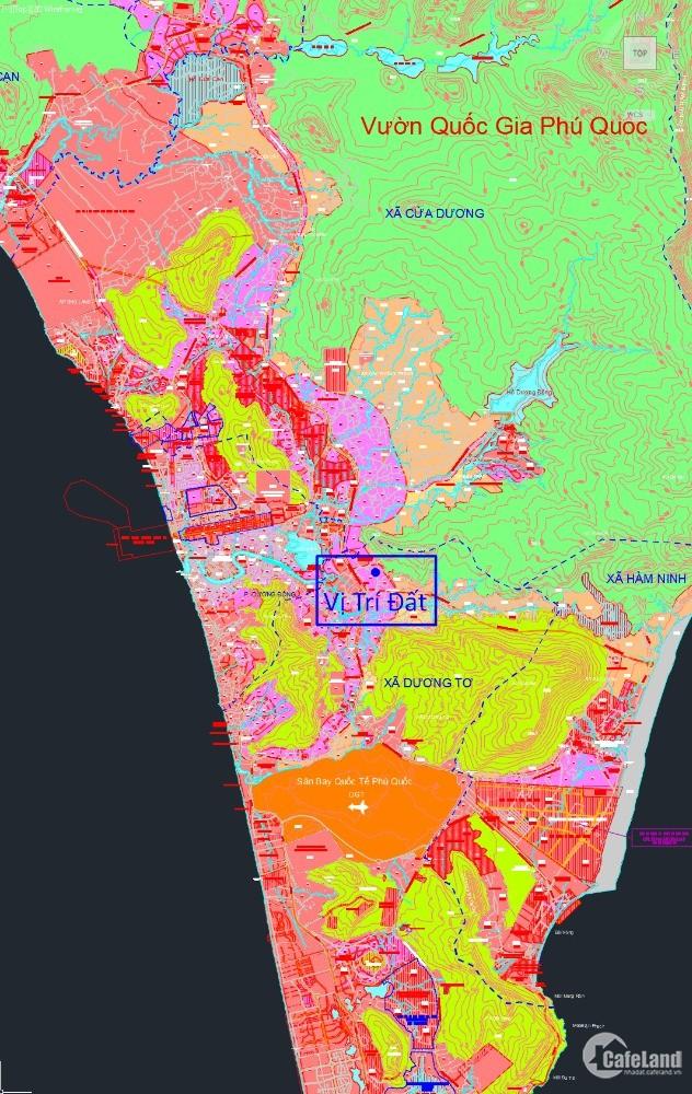 Cần bán full thổ cư đất phía núi cao ráo quy hoạch mặt tiền đường 60m PQ