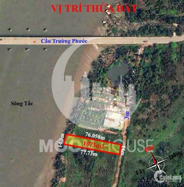 Đất phường Long Phước (q9 cũ) Thành Phố Thủ Đức, view sông Tắc 1073m2 LH 0907016
