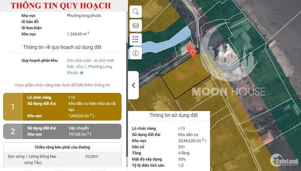 Bán đất phường Long Phước (Q9) thành phố Thủ Đức 1197.8m2 LH: 0907016378