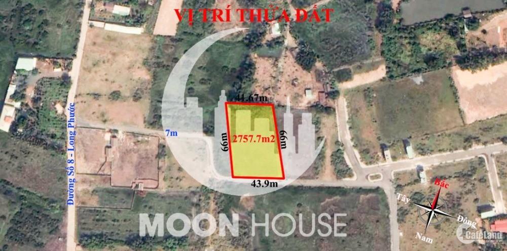 Đất xây dựng mới phường Long Phước (quận 9) thành phố Thủ Đức  2757.7m2