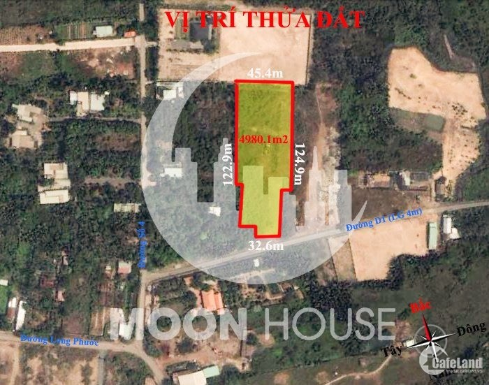 4980.1m2 đất du lịch sinh thái phường Long Phước Thành phố thủ Đức LH: 090701637