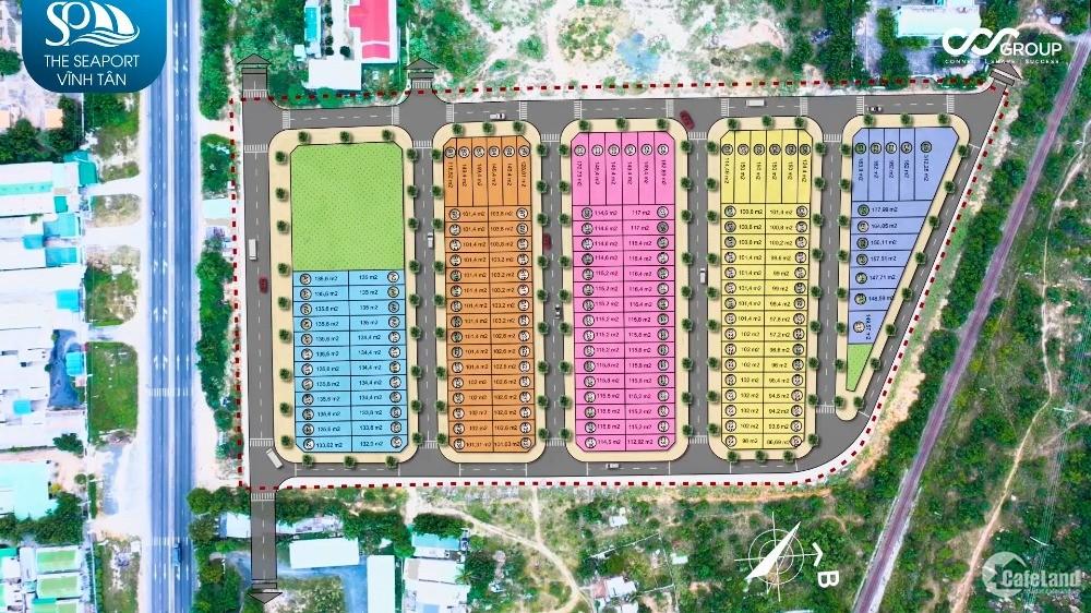 Bán lô đất nền cảng biển Vĩnh Tân đã có sổ, 150m2 mặt đường 17m giá 11tr/m2