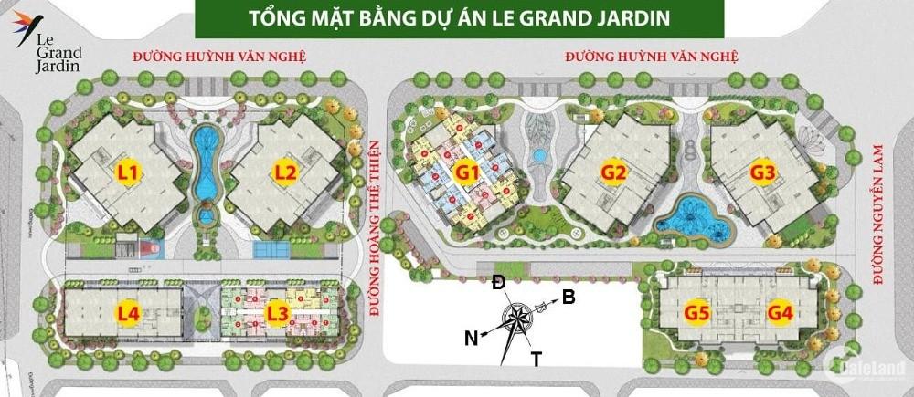Chỉ từ 2 tỷ sở hữu ngay CH 2PN 3 mặt thoáng Le Grand Jardin, HT vay 70%, LS 0%