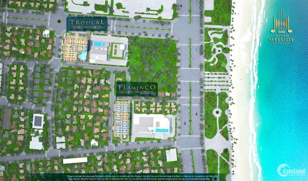 Chỉ với 560 triệu sở hữu ngay căn hộ biển Quy Nhơn Melody 3 mặt tiền đường biển