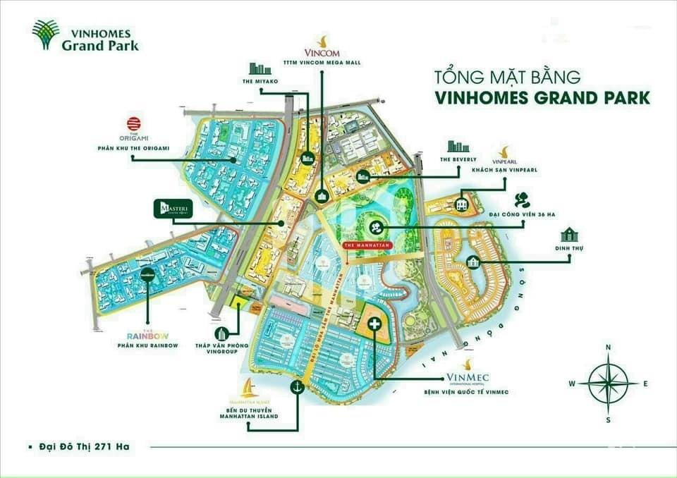 Bán giá gốc Boutique Villas The Manhattan - Vinhomes Q9, 70.755 tỷ 456m2