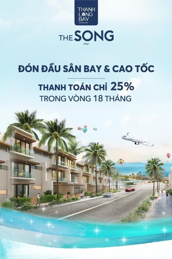 Nhà phố The Song tặng gói nội thất 600 triệu và cam kết mua lại 6% (S=6x18m)