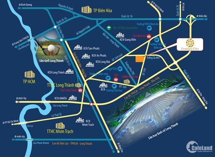 Lô đất 100m2 ngay mặt tiền DT769 cách sân bay Long Thành 3km