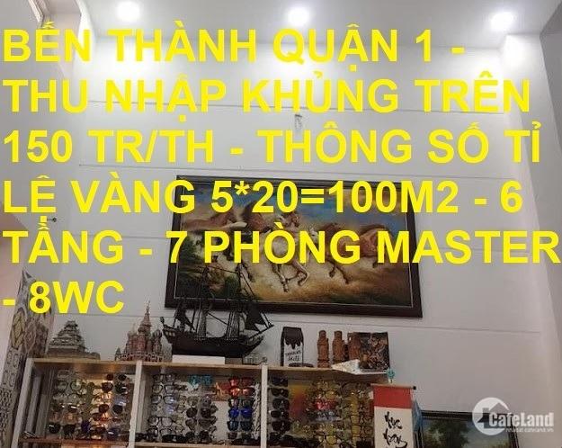 Bán nhà thu nhập khủng Lê Thị Riêng Bến Thành Quận 1 100m2 chỉ 22 tỷ