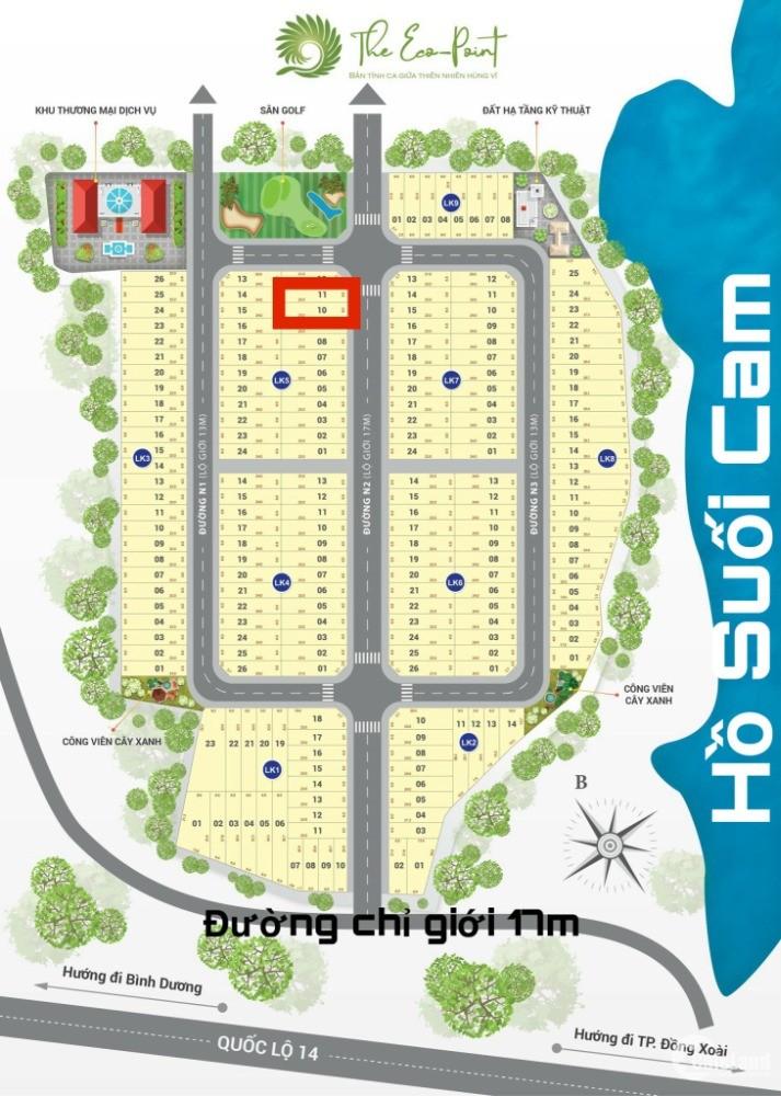 Cần bán gấp 02 lô đất nền trung tâm TP Đồng Xoài, giá 8,7tr/m2, sang sổ ngay