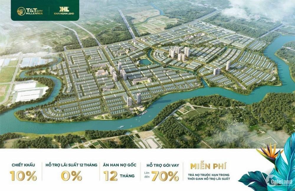 Đất nền đại đô thị ngay ranh Nhà Bè chỉ từ 25tr/m2, vay 70% lãi suất 12 tháng