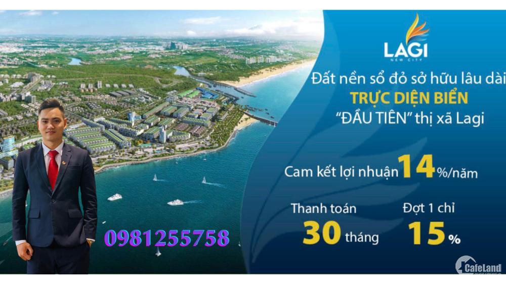 Đất nền mặt tiền biển Lagi New City với tiến độ thanh toán 30 tháng