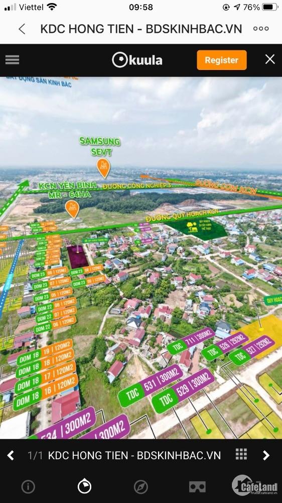 Đất nền trục chính khu công nghiệp, sổ đỏ trao tay