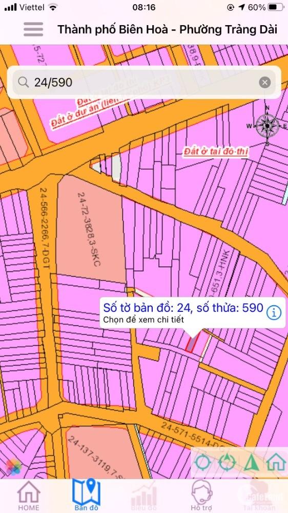 Bán nhanh lô đất gần chợ Trảng Dài cách chợ 100m