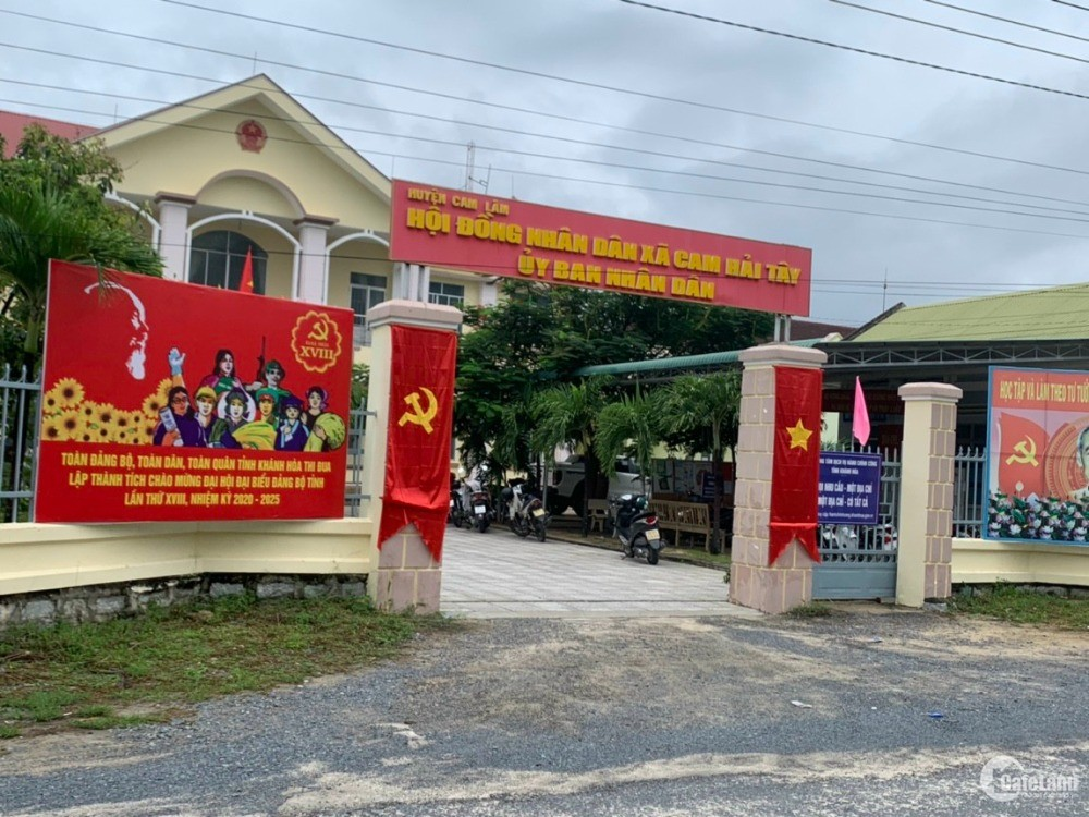 Bán Đất Hai Mặt Tiền Thổ Cư 100% Cam Hải Tây Bãi Dài Cam Lâm. 0973078745