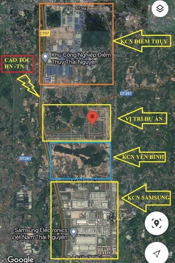 Đất nền khu công nghiệp Yên Bình Thái Nguyên