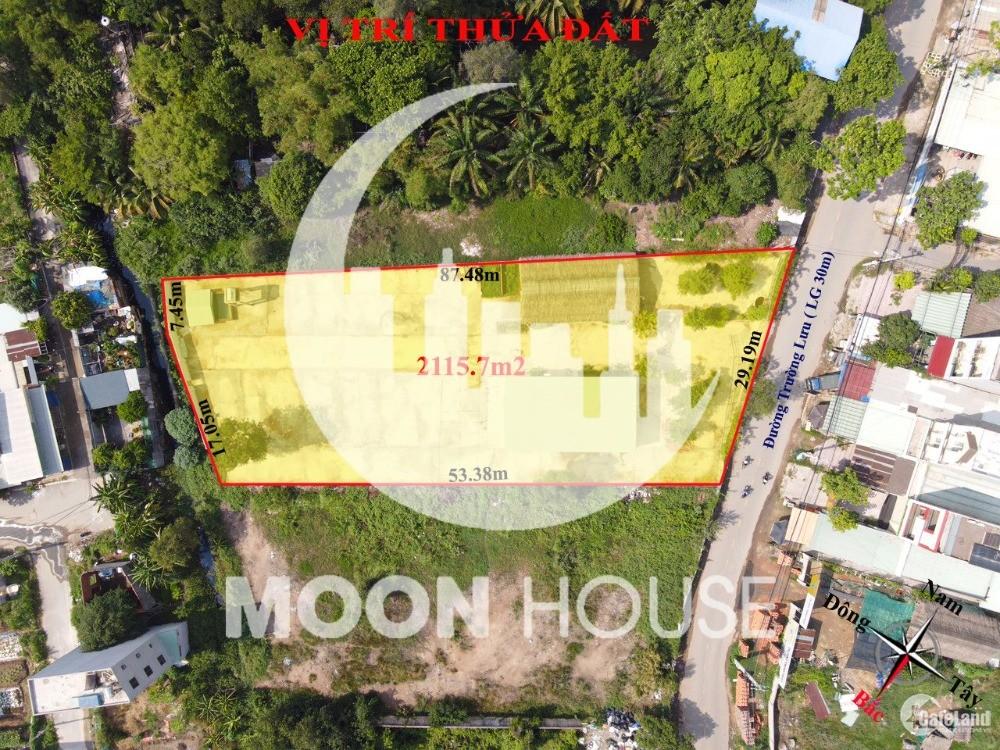 2115m2 đất xây dựng mới phường Long trường mặt tiền đường Trường Lưu