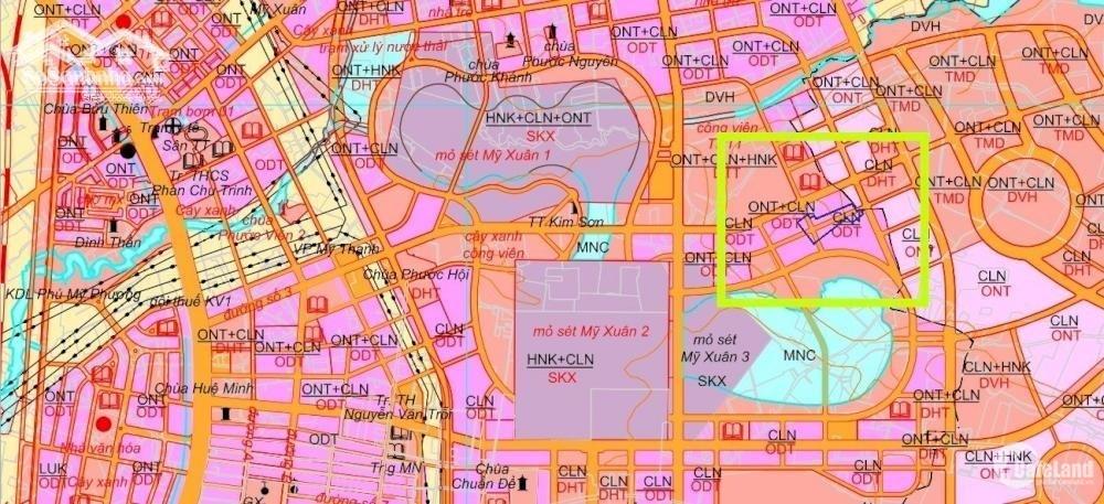 Đất thổ cư sổ hồng riêng khu dân cư Phú Mỹ BRVT