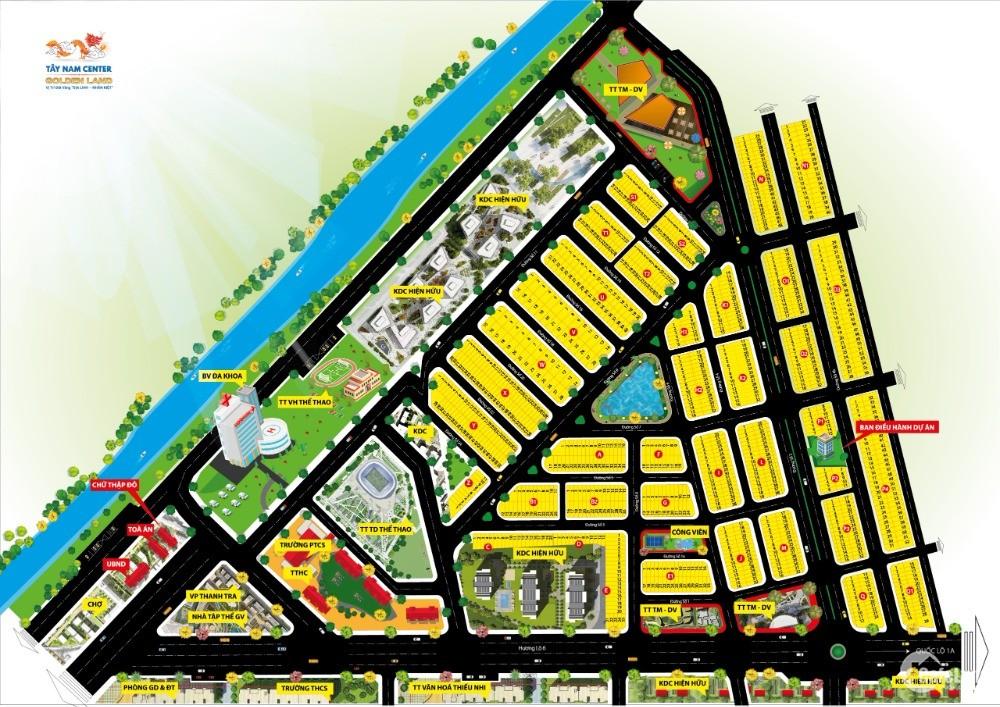 Cần tiền ra đi 1 lô góc 7x20 2 MT, DA Tây Nam Center Golden Land, 2.2 tỷ TL nhẹ
