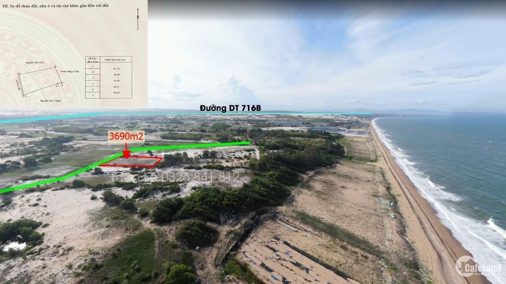 Bán đất ven biển Bình Thuận 3690m2, mặt tiền, cách biển 200m