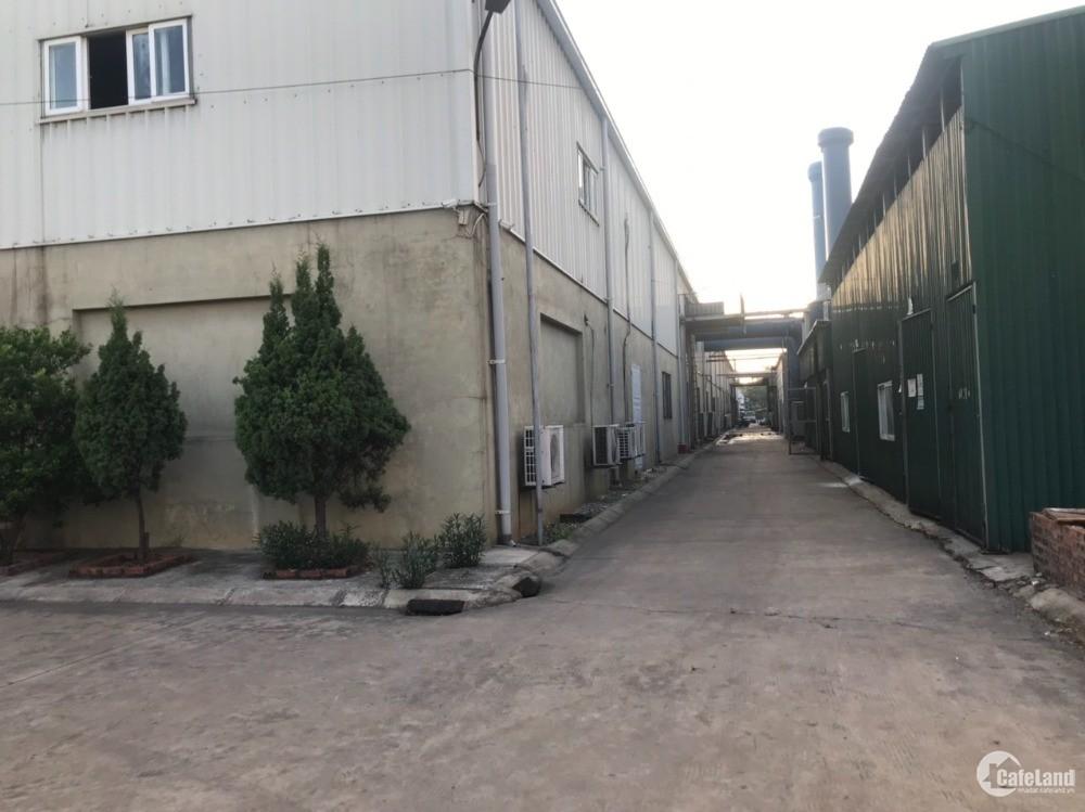 Cho thuê 3600m2 xưởng, 240m2 VP tại KCN Đại Đồng, Giá chỉ 62k/m2 chưa VAT