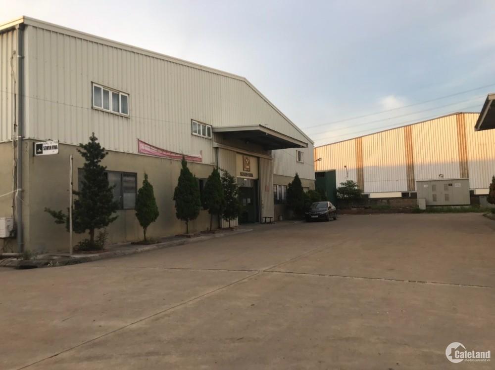 Cho thuê nhà xưởng KCN Đại Đồng, DT 2700m2 , vào được ngay gía chỉ 63.000đ/m2