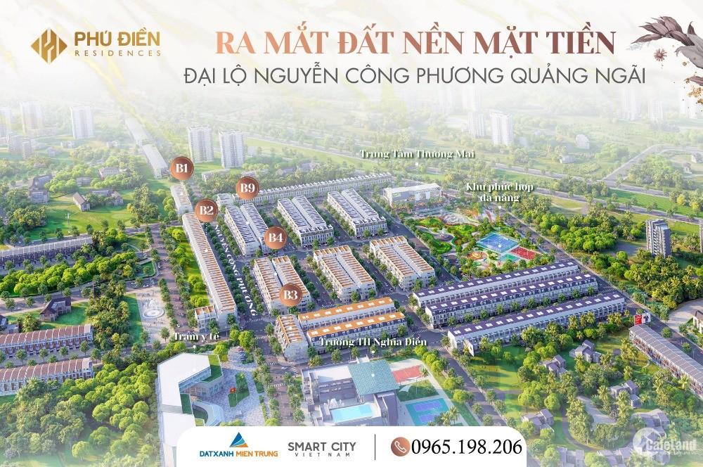 Hot! Mở bán 26 lô siêu phẩm mặt tiền Nguyễn Công Phương QN giá chỉ 1xTR/m2, sổ đ
