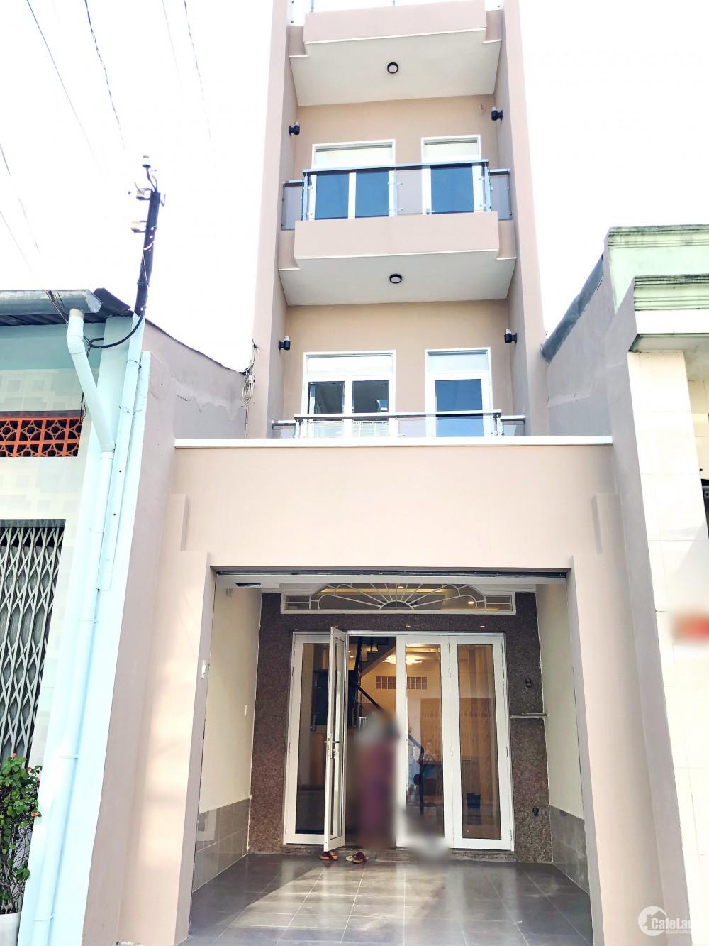 Nhà mới, đẹp, xây kiên cố 62m2 mặt tiền chính đường Lương Ngọc Quyến P13 Q8