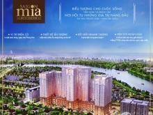Chính chủ bán lại CH Saigon Mia, 2 phòng ngủ, giá 3.5 tỷ, full nội thấtview sông