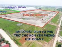 Yên Phong – bán lô ngoại giao khu Đất ở & DV Liền kề KCN Yên Phong mở rộng