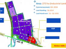 Cho thuê đất 50 năm KCN Visip 2 tại Yên Phong Bắc Ninh dt 1ha, 2ha, 5ha…10ha, 15