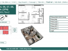 Bán căn 2PN 65m2 đẹp nhất dự án Feliz Homes giá 1 tỷ 977, hướng Đông Nam diện