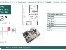 Bán căn góc 2PN đẹp nhất dự án Feliz Homes giá 1 tỷ 945, hướng Đông Nam diện
