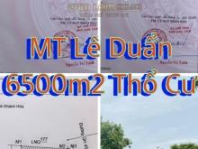 BÁN ĐẤT FULL THỔ DIỆN TÍCH HƠN 6500M2,MẶT TIỀN LÊ DUẨN(QH 40M),CAM HẢI TÂY CAM L