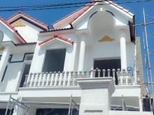 Nhà Bán Mặt Tiền Nhựa 6m 1trệt 1lầu sổ hồng riêng 350tr nhận nhà