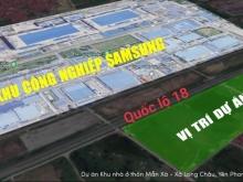 dự án Vàng tâm điểm đầu tư tại KCN Yên Phong- Bắc Ninh, đối diện SAMSUNG