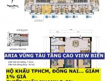 Aria Vũng Tàu 2PN 91m2-138m2, Full Nội Thất, Giá 36 tr/m2, Vay 70%, Giảm 1%