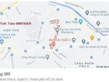 Bán mặt bằng kinh doanh nở hậu đường 385 phường Tăng Nhơn Phú A