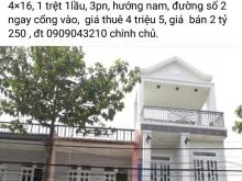 Cho thuê nhà hoặc bán cát tường phú nguyên 2