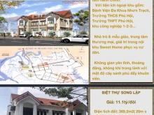 BÁN GẤP BIỆT THỰ CẶP Sweet Home City, Nhơn Trạch