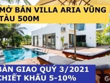 Villa Biển Aria Vũng Tàu, 480m2, Hồ Bơi Riêng, Giá 18 tỷ, Chiết khấu 5%, Quý 3/2