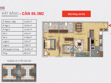 Nhà tôi muốn CH tại 6Th Element - căn góc 2PN, 87m2 giá 3,7 tỷ (đã có sổ)