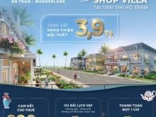 Shop villa Wonderland Hồ Tràm từ 9,8 tỷ/căn. Cam kết thuê 800 tr/năm