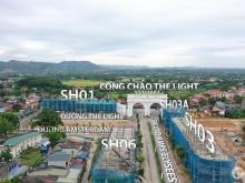 Shophouse 01 tiếp giáp 3 mặt đường lớn cạnh cổng chính Danko City. Giá đầu tư