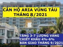 Aria Vũng Tàu Căn 2PN-115m2, Tầng Cao,View Biển, Giá 4.9 tỷ, Chiết khấu 6%, Tặng