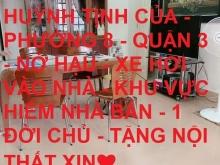 Bán nhà sát mặt tiền Huỳnh Tịnh Của P8 Q3 giảm 1.8 tỷ chỉ còn 11.5 tỷ