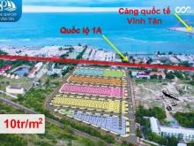Đất nền Tuy Phong, sát quốc lộ 1A, Cảng quốc tế Vĩnh Tân, đã có sổ đỏ, 10tr/m2